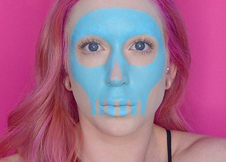 Pastel Skull Halloween Makeup Tutorial